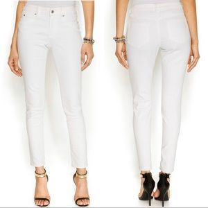Two by Vince Comuto White Skinny Cropped Jeans 32